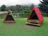 Playhouse for playground APACHE - INDUSTRIA LEGNAMI TIRANO
