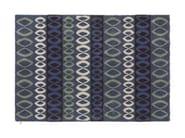 Design patterned wool linen rug FOLKE - Kasthall