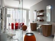 Single vanity unit with doors SUEDE 40/41 - Cerasa