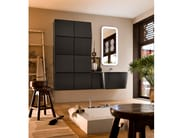 Single wall-mounted vanity unit with cabinets SUEDE 72/73 - Cerasa