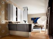 Single vanity unit with doors SUEDE 86/87 - Cerasa