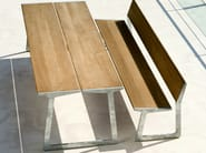 Bench with back BIRD | Bench - TRIBÙ