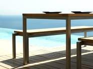Teak garden bench NATAL ALU TEAK | Garden bench - TRIBÙ