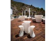 Polyethylene garden stool MOMA AIRE TAMBURETE HIGH - VONDOM