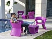 Polyethylene garden side table / garden stool PAL | Garden side table - VONDOM
