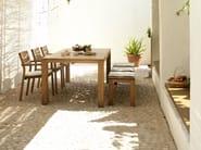 Teak garden table KOS TEAK   Rectangular garden table - TRIBÙ
