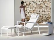 Square aluminium garden side table MIRTHE SOFA | Garden side table - TRIBÙ