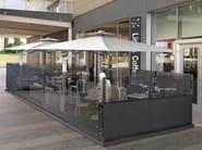 Glass and aluminium gazebo DEHORS - CAGIS