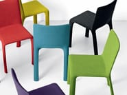 Upholstered fabric chair - Joko