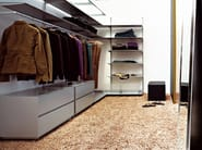 Sectional metal walk-in wardrobe DOT WARDROBE - Kristalia