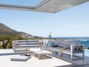 Low Rectangular aluminium garden side table FUSE | Rectangular garden side table - MANUTTI