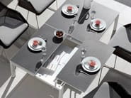 Extending Rectangular garden side table TRENTO TIP-UP   Rectangular garden side table - MANUTTI