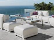 Extending Rectangular garden side table TRENTO TIP-UP | Rectangular garden side table - MANUTTI