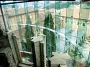 Muro cortina con fijación puntual FACCIATE IN VETRO - FARAONE