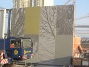 Matrix for fair faced concrete wall RECKLI® PHOTO-ENGRAVING - COPLAN