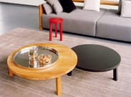 Round wooden coffee table LEILA - e15