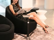 Individual office workstation LOUNGE-BOOK CRYSTAL BLACK | PC writing desk - LOUNGE-TEK