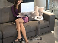 Coffee table Extending Sideboard metal Plexiglas design LOUNGE-BOOK CRYSTAL CHROME - LOUNGE-TEK