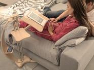 TV cabinet Orientable Wood metal modern LOUNGE-WOOD NATURAL - LOUNGE-TEK