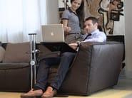Height-adjustable writing desk LOUNGE-WOOD DARK - LOUNGE-TEK
