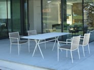 Stackable garden chair with armrests LODGE | Garden chair - FISCHER MÖBEL