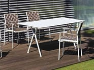 Rectangular aluminium garden table NIZZA | Rectangular table - FISCHER MÖBEL