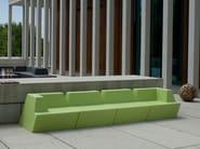 Modular foam garden sofa UNIVERS | Modular sofa - FISCHER MÖBEL