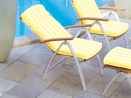 Recliner deck chair with armrests CENTRO | Deck chair - FISCHER MÖBEL