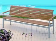 Teak garden bench with armrests LA PIAZZA | Garden bench with armrests - FISCHER MÖBEL