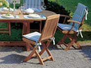 Folding teak garden chair with armrests BURMA | Folding chair - FISCHER MÖBEL