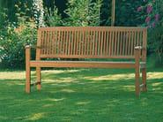 Teak garden bench with armrests BURMA   Garden bench - FISCHER MÖBEL