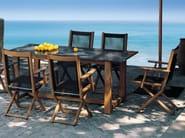 Extending round teak garden table TENNIS | Garden table - FISCHER MÖBEL
