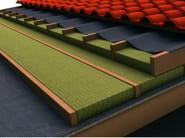 Thermal insulation sheet and panel in mineral fibre TERVOL DP - FORTLAN - DIBI