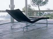 Tanned leather lounge chair DAY-BED | Lounge chair - ENRICO PELLIZZONI