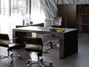 Rectangular executive desk with drawers FUSION | Office desk - ENRICO PELLIZZONI