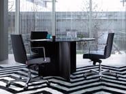 Glass meeting table STAR - ENRICO PELLIZZONI