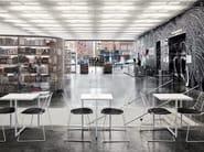 Sled base steel garden chair - Birdbath (Café/ New Museum) New York City / USA - Architect: SANAA