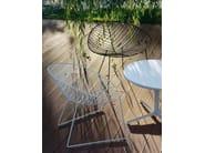 Sled base steel garden armchair LEAF   Garden armchair - Arper