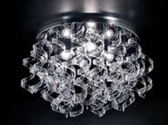 Crystal ceiling lamp ASTRO | Ceiling lamp - Metal Lux di Baccega R. & C.