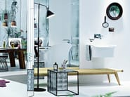 Countertop washbasin with towel rail AXOR URQUIOLA | Washbasin - HANSGROHE