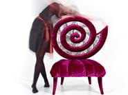Medallion velvet armchair KUNDALINI - Sicis