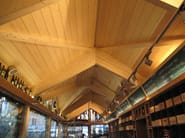 Integrated structural system in timber Laminated wood structure - Simonin