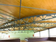Timber roof structure and timber truss SAPISOL® - Simonin