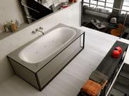 Oval acrylic bathtub NAKED - Glass 1989