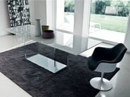 Extending rectangular glass table VALENCIA EXTENSIBLE - SOVET ITALIA