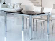 Contemporary style extending rectangular glass dining table BRISTOL - ITALY DREAM DESIGN - Kallisté