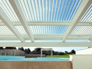 Aluminium pergola with adjustable louvers ONDULA - Frigerio Tende da Sole