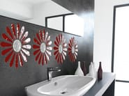 Ultra thin decorated glass wall tiles MAGGIE - VETROVIVO