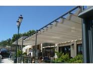 Freestanding pergola with sliding cover TOSCA - KE Outdoor Design