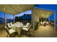 Aluminium pergola with sliding cover A4 | Wall-mounted pergola - KE Outdoor Design